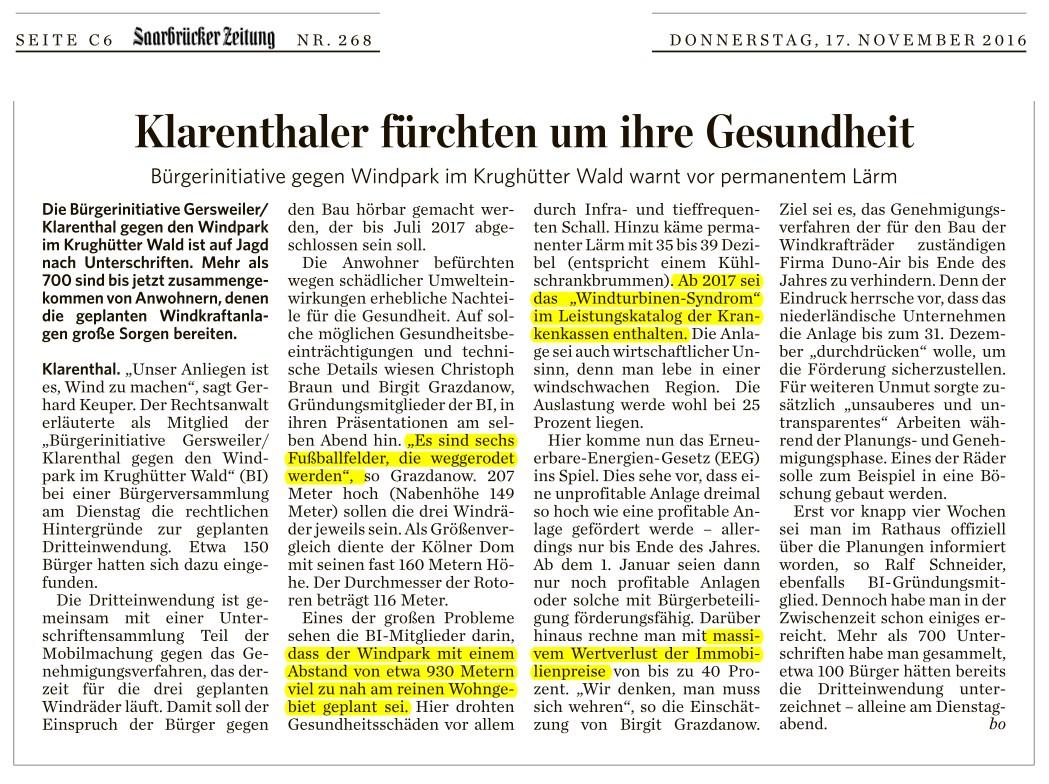 3-Presse-2016 und früher - GegenWind Saarland